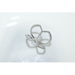 LR01201 Ladies Cross Over Fashion Ring