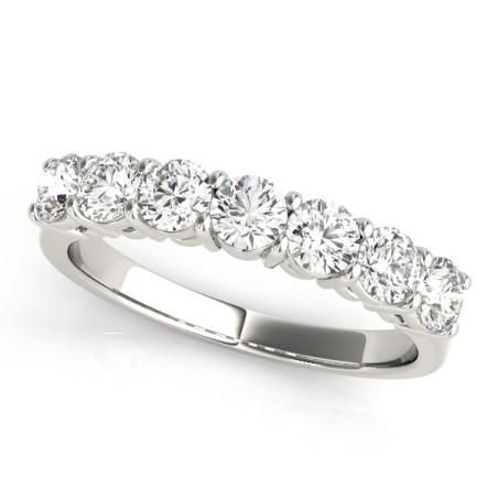 84547-1. 1.00CT Seven Stone Diamond Wedding Band