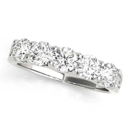 50603-W-B. 1.50CT Five Stone Diamond Wedding Band