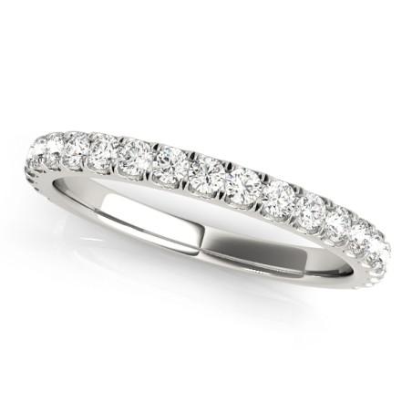 50838-W. 0.40CT Twenty One Stone Diamond Wedding Band