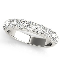 50274-W-10. White Gold Seven Stone Wedding Band