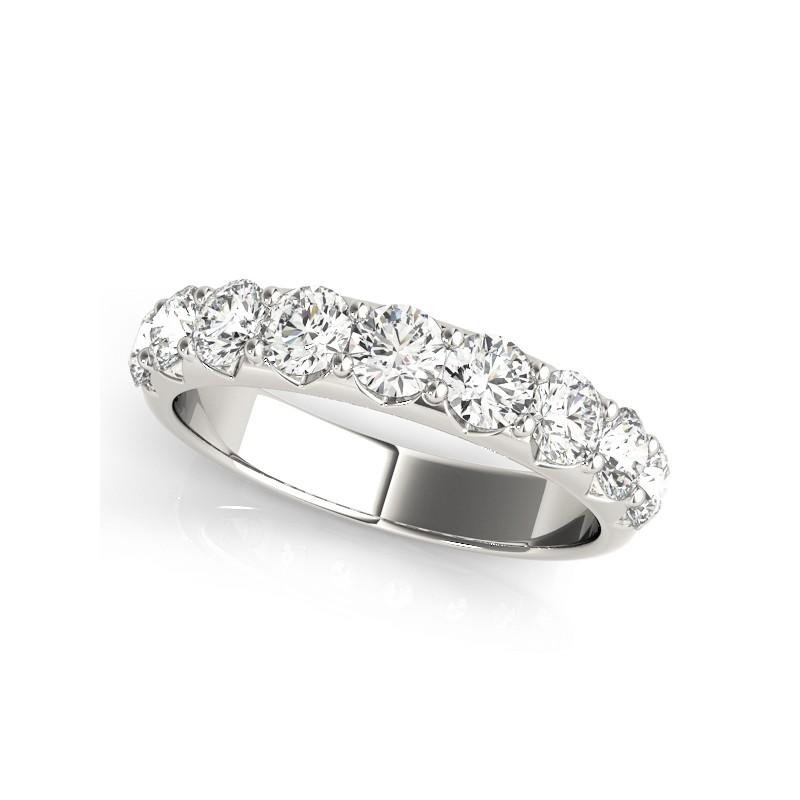 50274-W-10. White Gold Seven Stone Wedding Band
