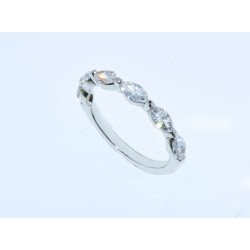 WB03152. 0.95CT Diamond Marquise Wedding Band
