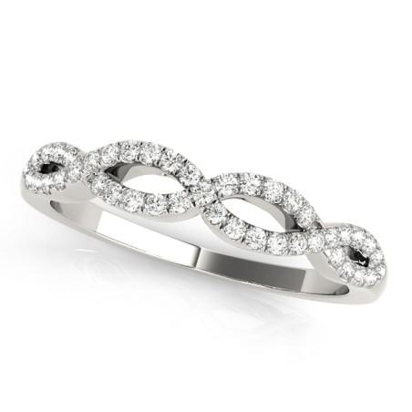51058-W. 0.20CT Infinity Diamond Wedding Band